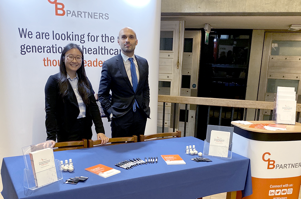 The CBPartners stand at the Management Consultancy Fair at the University of Oxford