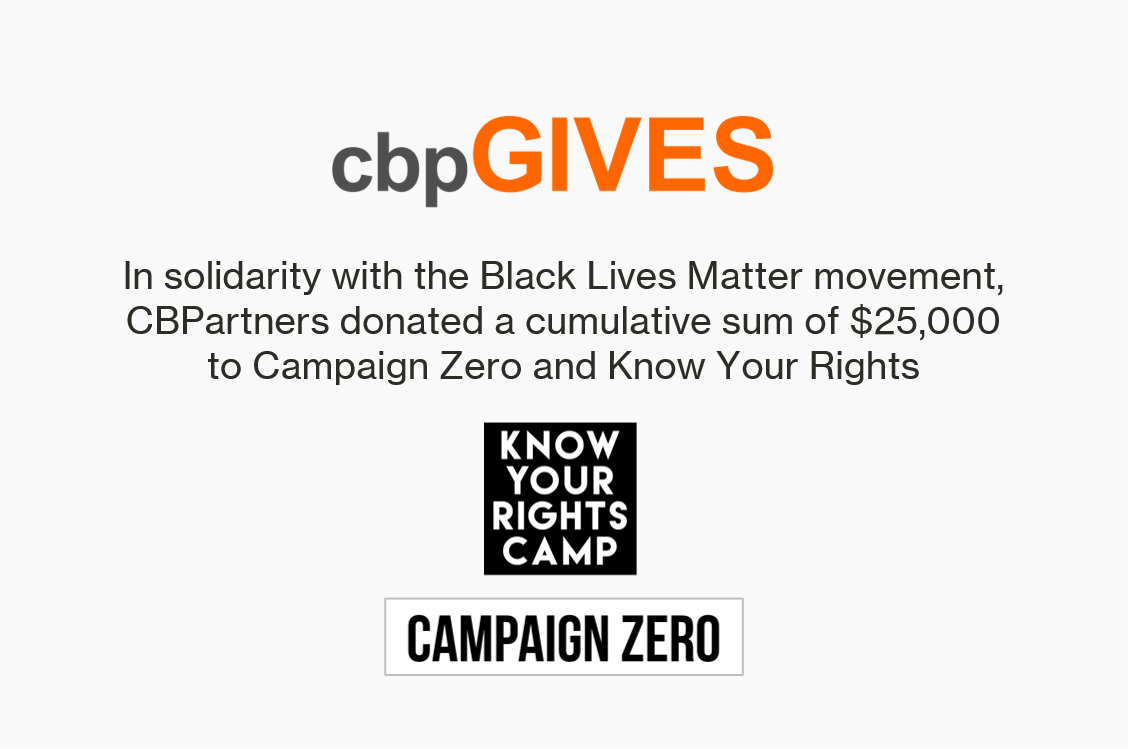 CBPartners Makes $25,000 Donation in Support of the Black Lives Matter Movement